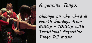 Third and Fourth Sunday Argentine Tango Milonga