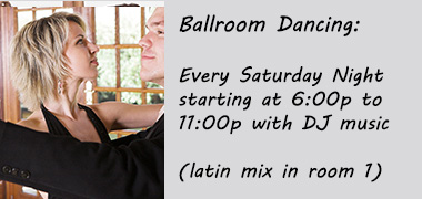 Ballroom Dancing Saturday Nights